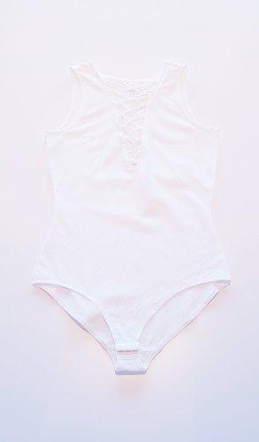 HM Body blanc-blanc cassé coton