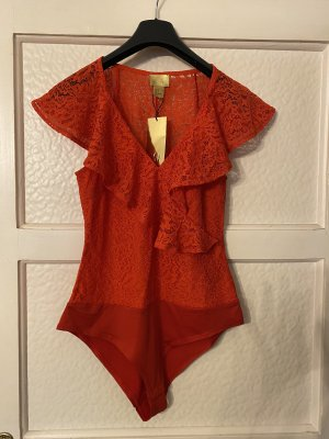 H&M Frill Top red