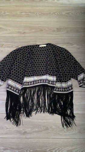 H&M Kimono Blouse white-black