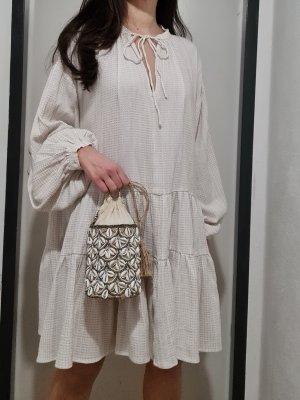 H&M Vestido Hippie crema-blanco puro Algodón
