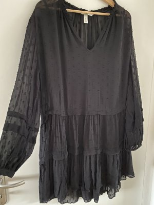 H&M Boho Kleid schwarz