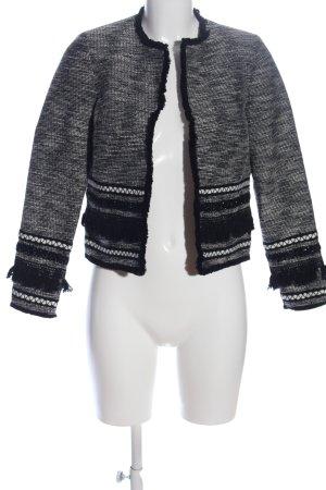 H&M Bolero weiß-schwarz Casual-Look