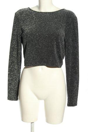 H&M Bolerko czarny-srebrny Melanżowy Ekstrawagancki styl