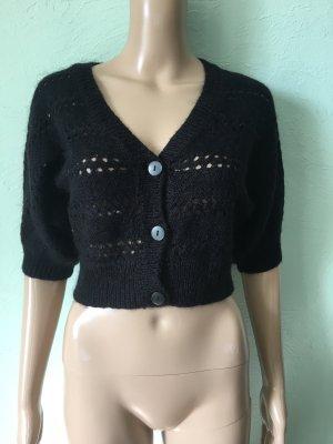 H&M Short Sleeve Knitted Jacket black