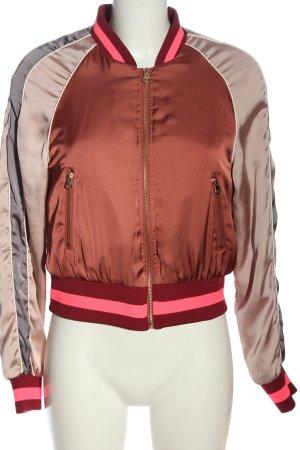 H&M Bomberka brązowy-jasnoszary W stylu casual