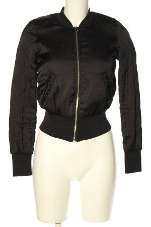 H&M Bomberka czarny Pikowany wzór W stylu casual