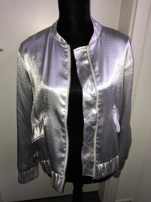 H&M Bomber Jacket silver-colored