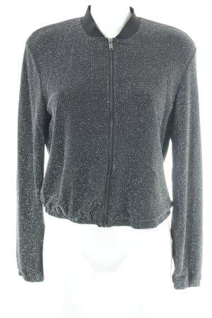 H&M Bomberjacke silberfarben-schwarz Metallelemente