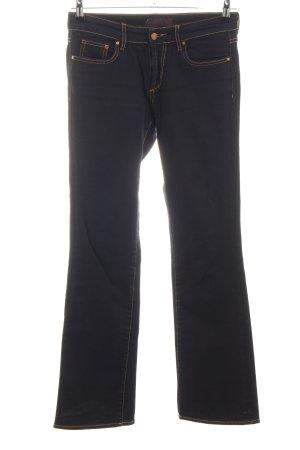 H&M Boot Cut Jeans blau Business-Look