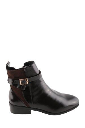 H&M Booties schwarz-braun Casual-Look