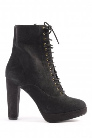 H&M Booties schwarz Casual-Look