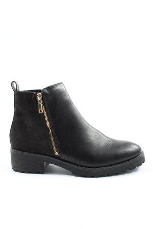 H&M Booties black-brown casual look