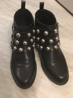 H&M Booties black-silver-colored