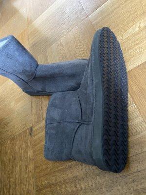 H&M Bottes fourrées gris-gris foncé tissu mixte