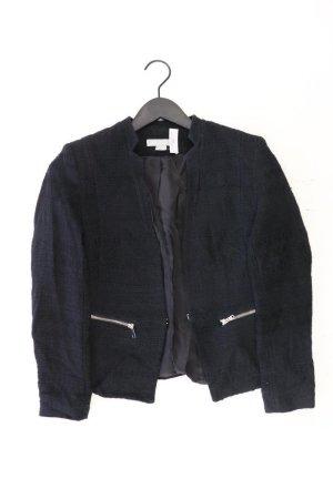 H&M Bouclé Jacke Größe 38 schwarz aus Baumwolle