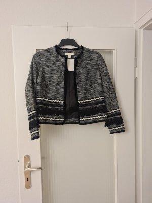 H&M Trend Blazer en tweed noir-gris clair