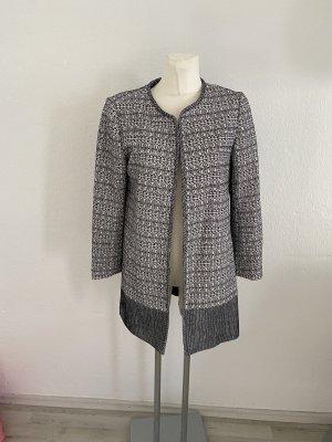 H&M Boucle style Jacke mantel 40 schwarz Weiß