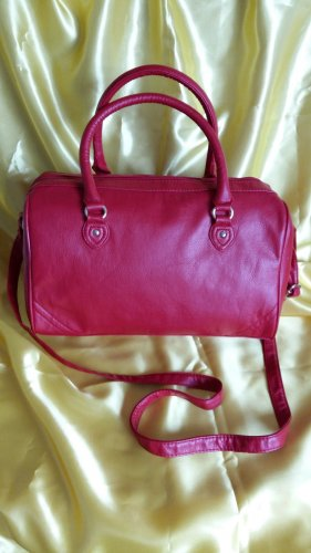 H&M Bowling Bag red imitation leather