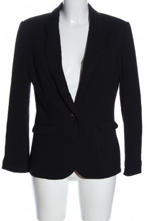 H&M Boyfriend Blazer black striped pattern casual look