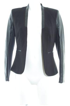 H&M Boyfriend-Blazer creme-schwarz klassischer Stil