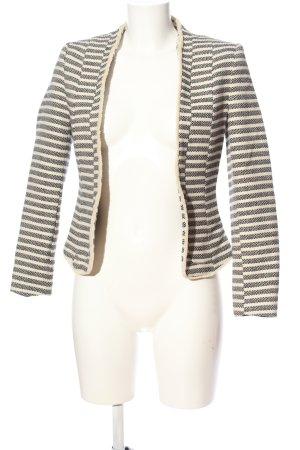 H&M Blazer Boyfriend blanco puro-gris claro look casual
