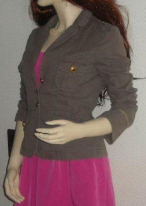 H&M Boyfriend Blazer Military Vintage khaki braun Jacke 32 34 36 XS S M Oversize