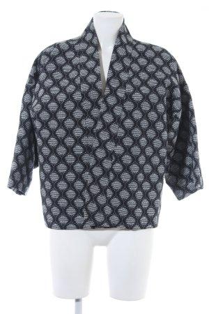 H&M Boyfriend-Blazer schwarz-weiß Punktemuster Elegant