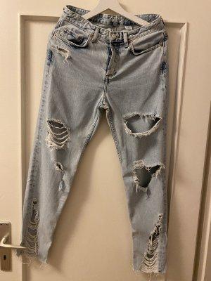 H&M Boyfriend Jeans light blue-blue
