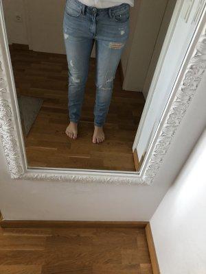 H&M DENIM Jeans boyfriend bleu azur