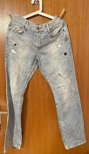 H&M Boyfriend Jeans multicolored cotton