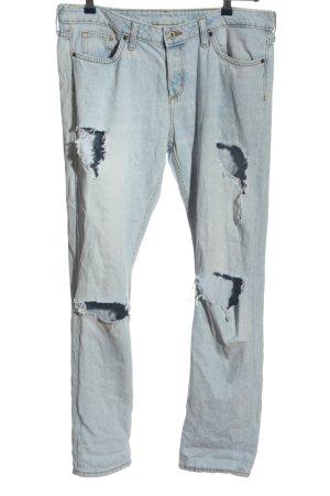 H&M Jeans boyfriend bleu style d'affaires