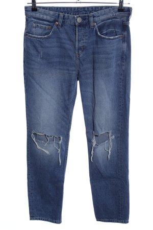 H&M Jeansy typu boyfriend niebieski W stylu casual