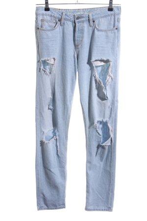 H&M Boyfriendjeans blau Casual-Look