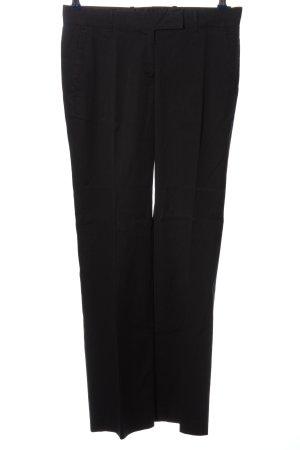 H&M Bundfaltenhose schwarz-braun Streifenmuster Casual-Look