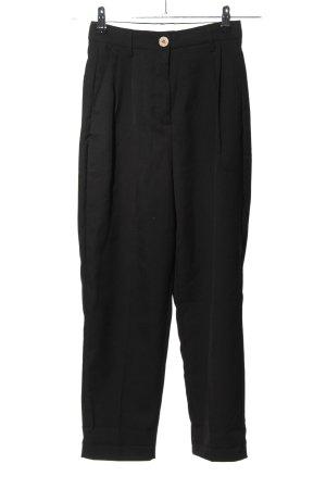 H&M Bundfaltenhose schwarz Casual-Look
