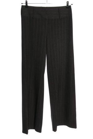 H&M Pantalón de pinza negro estampado a rayas estilo «business»