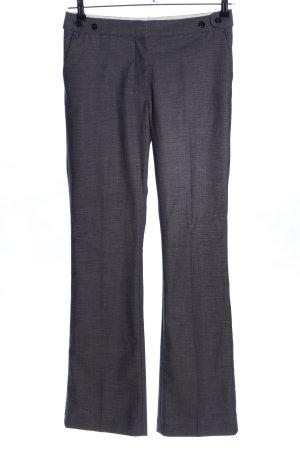 H&M Bundfaltenhose silberfarben meliert Business-Look