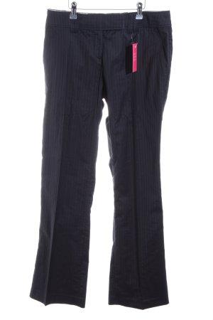 H&M Bundfaltenhose schwarz Streifenmuster Business-Look