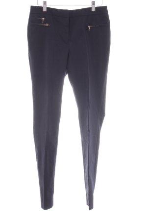 H&M Bundfaltenhose dunkelblau Casual-Look