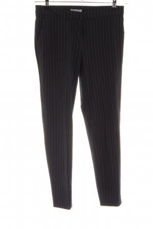 H&M Bundfaltenhose schwarz-weiß Streifenmuster Business-Look