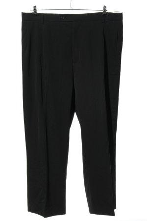 H&M Bundfaltenhose schwarz Business-Look