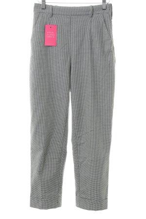 H&M Bundfaltenhose weiß-schwarz Business-Look