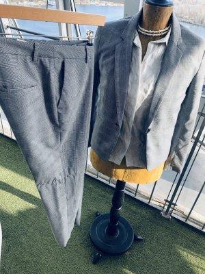 H&M Abito business bianco-grigio