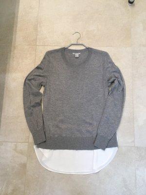 H&M Long Sweater light grey-white