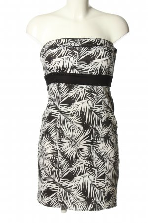 H&M Bustierkleid schwarz-weiß Allover-Druck Casual-Look