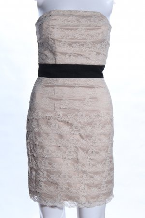 H&M Bustier Dress natural white-black elegant