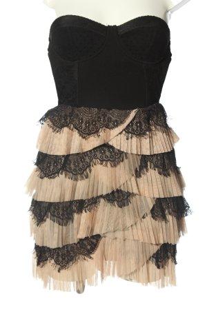 H&M Sukienka gorsetowa czarny-kremowy Elegancki
