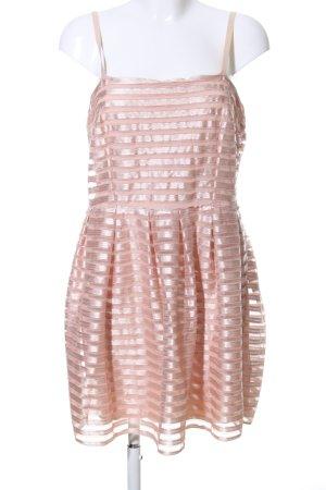 H&M Robe bustier rose motif rayé élégant