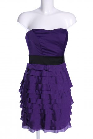 H&M Bustier Dress lilac-black elegant