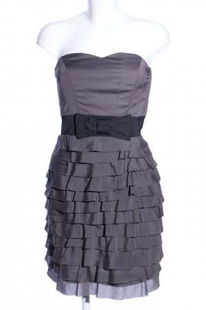 H&M Bustierkleid hellgrau Elegant